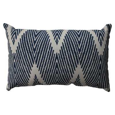 Pillow Perfect Bali Navy Rectangular Throw Pillow-18.5x11.5- insert included - Overstock