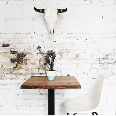 Rustic Industrial Reclaimed Wood Cafe Pub Table - Etsy