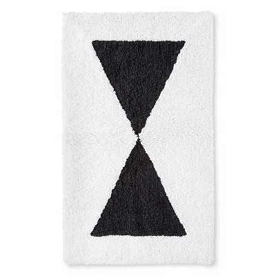 "Graphic Bath Rug - Black/White (20x34"") - Target"
