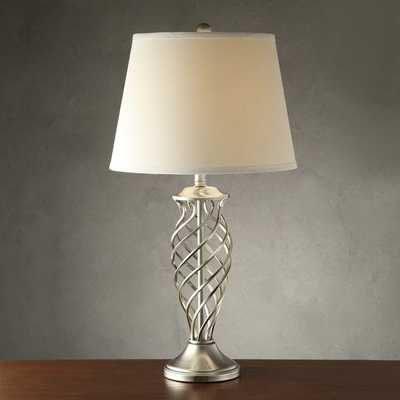 INSPIRE Q Cornelia 3-way Satin Nickel Contoured Cage Base 1-light Accent Table Lamp - Overstock