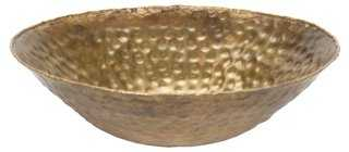 "8"" Flared Hammered Bowl - One Kings Lane"
