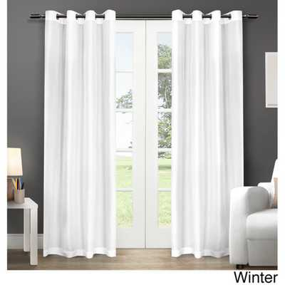 Chatra Grommet Top Curtain Panel Pair - Overstock