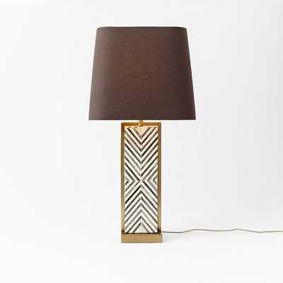Chevron Deco Table Lamp - Large - West Elm