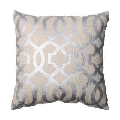 """Ashford Throw Pillow - Silver - 16.5"""" - Polyester Insert - Wayfair"""