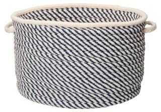 Twisted Natural Wool Basket - One Kings Lane