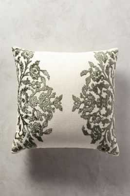 "Vining Velvet Pillow - 20"" x 20"" - Polyfill - Anthropologie"