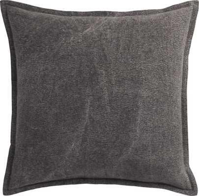 Eclipse pillow - 20x20 - Charcoal - Down Insert - CB2