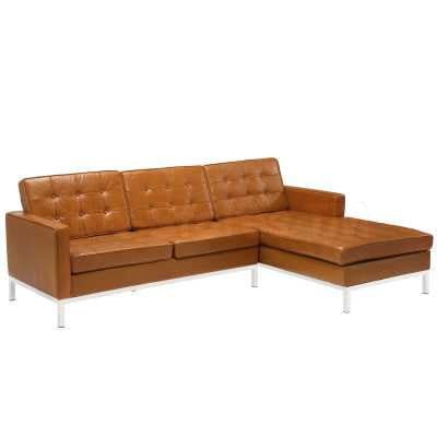 Loft Right-Arm Leather Sectional Sofa (Multiple Colors) by Modway - novidecor.com