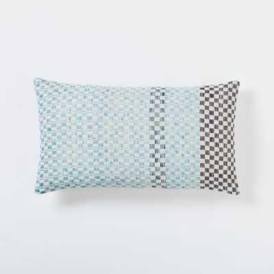 Dobby Dot Pillow Cover - Light Pool - 12x21 - Insert sold separately - West Elm