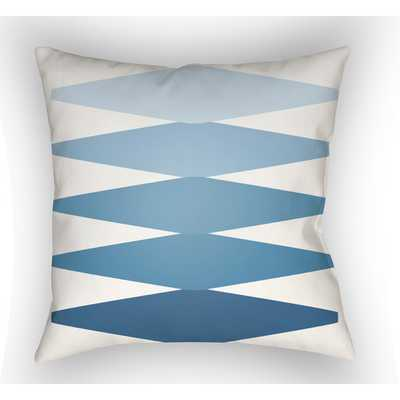 """Moderne Throw Pillow - Blue - 18"""" Sq - Polyester/Polyfill insert - AllModern"""