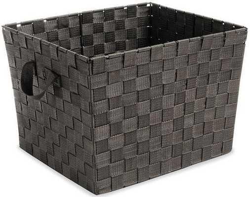 Woven Strap Storage Tote - Home Decorators