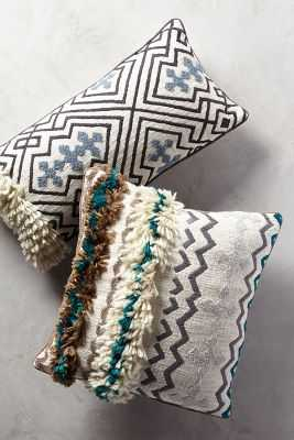 "Tufted Ariany Pillow-12""x26""-poly fill insert - Anthropologie"