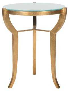Eustace Side Table, Gold - One Kings Lane