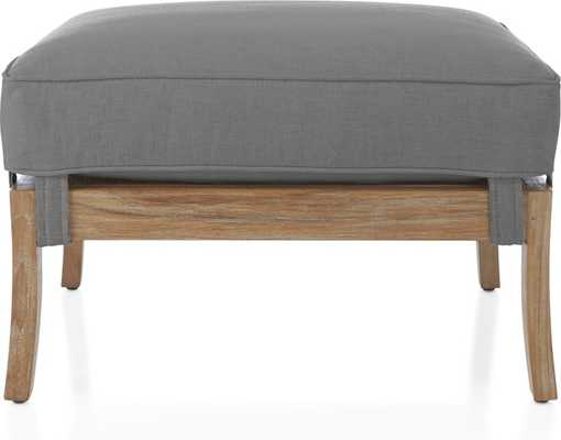 Blake Wash Ottoman with Fabric Cushion - Crate and Barrel