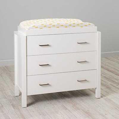 White Uptown 3-Drawer Dresser - Land of Nod