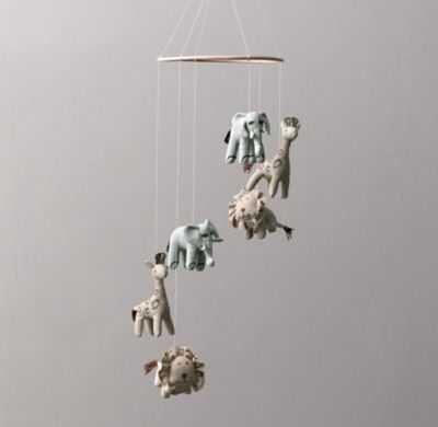 chambray animal mobile - RH Baby & Child
