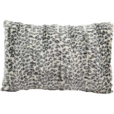"""Fur Lumbar Pillow - 12"""" H x 18"""" W - Polyester Fill - Wayfair"""
