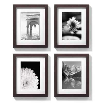 8-Inch x 10-Inch Gallery Frames in Espresso (Set of 4)- Espresso frame - Bed Bath & Beyond