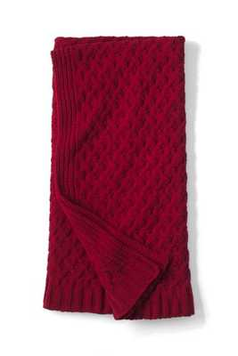 Chenille Cable Knit Throw - landsend.com