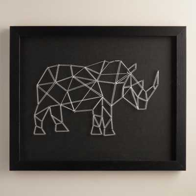 Geo Rhino String Wall Art by Christine Tong - World Market/Cost Plus