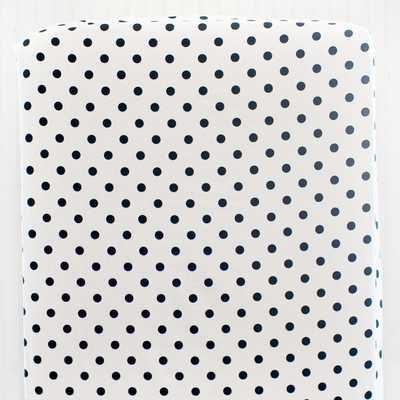 Black & White Unisex Polka Dot Crib Sheet - Etsy