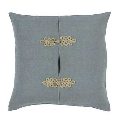 "Lacey Frog Knot- Marine- 20"" Square Pillow-Feather Insert - Ballard Designs"
