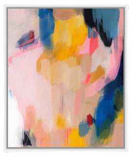 """Valerie Tovar, Pink Lemonade II-21.75"""" x 25.75""""-  White frame - One Kings Lane"""