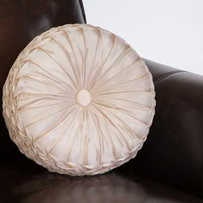 Christopher Knight Home 14-inch Round Ivory Sateen Pillow - Overstock