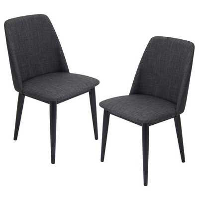 Tintori Mid-century Style Dining Chairs (Set of 2) - Black - Overstock