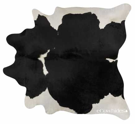 Black and White Brazilian Cowhide : Large - ecowhides.com