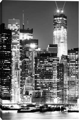 """Black and white New York City - 32"""" x 48"""" - Unframed - Photos.com by Getty Images"""