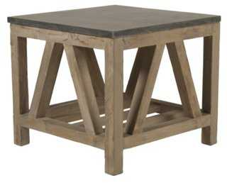 Beekman Blue Stone End Table - One Kings Lane
