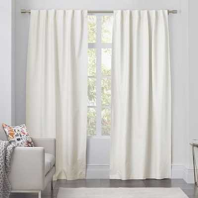 "Linen Cotton Curtain - Ivory - Unlined; 108""l x 48""w - West Elm"