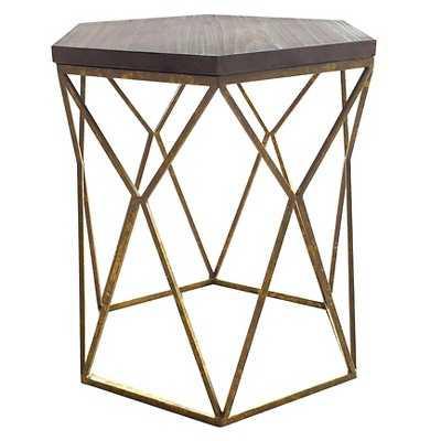 "Chester End Table Gold Metal Hexagon - Thresholdâ""¢ - Target"