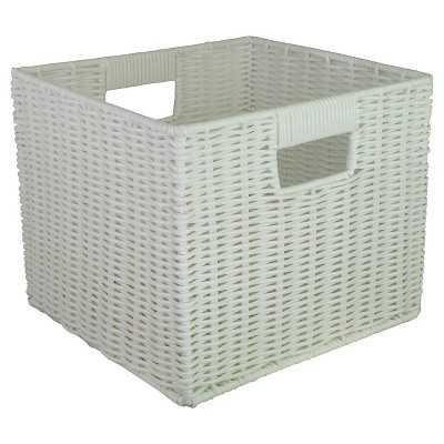 "Woven Plastic Storage Cube 11"" - Room Essentialsâ""¢-White - Target"
