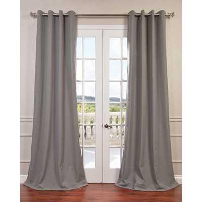 "Grommet Single Curtain Panel - Pewter Grey - 84""L - Wayfair"