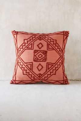 "Magical Thinking Roya Crewel Tonal Pillow, 18""Sq, no insert - Urban Outfitters"