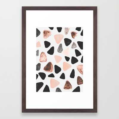 """Rounded Triangles/FRAMED ART PRINT/ CONSERVATION WALNUT SMALL (15"""" X 21"""") - Society6"""