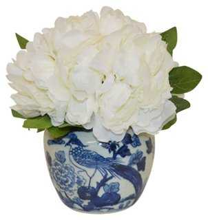 White Peony Arrangement - One Kings Lane