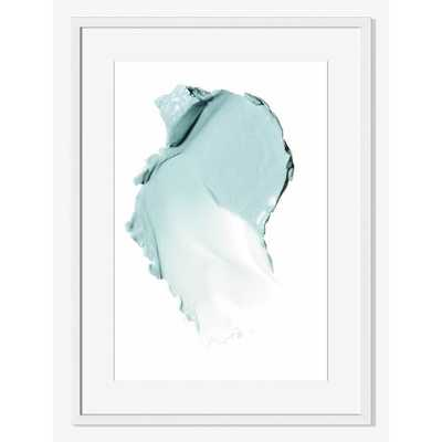 """Offset for west elm Print - Blue Pigment -Large: 16""""sq -White Frame with mat - West Elm"""