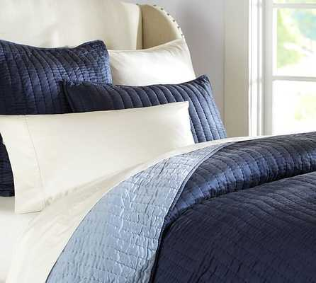 Silk Channel Two-Toned Quilt - Pottery Barn