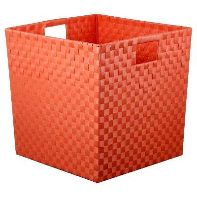 "Woven Storage Bin Large Coral - Pillowfortâ""¢ - Target"
