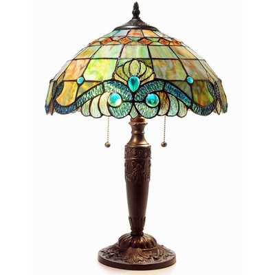 Tiffany Style Pearl Vintage Table Lamp - Overstock