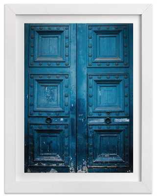 Behind Door Number 1 - 18 x 24 - Framed - Domino