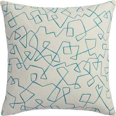 Binx pillow - 18x18 - Teal - With Insert - CB2