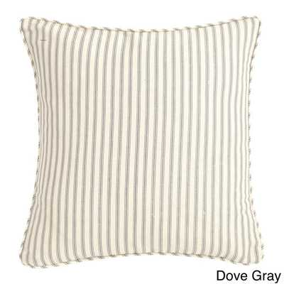 Sure Fit Ticking Stripe 18-inch Decorative Pillow - Overstock