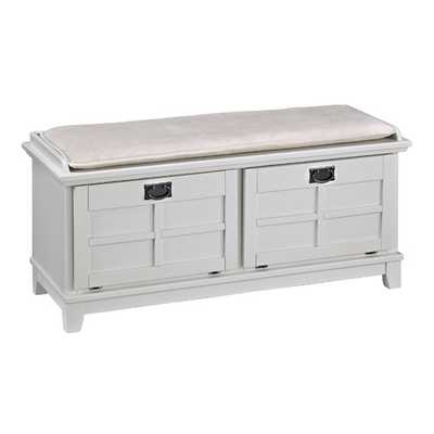 Home Styles Arts and Crafts Upholstered Entryway Bench - Wayfair