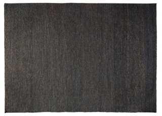 8'x10' Larusha Jute Rug, Charcoal - One Kings Lane