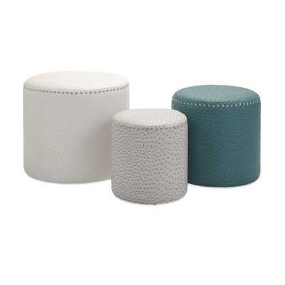 Claire Ottomans (Set of 3) - Overstock