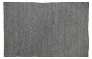 5'x8' Larusha Jute Rug, Charcoal - One Kings Lane
